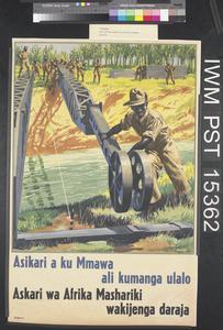 Asikari a ku Mmawa ali Kumanga Ulalo [East African Soldiers Building a Bridge]