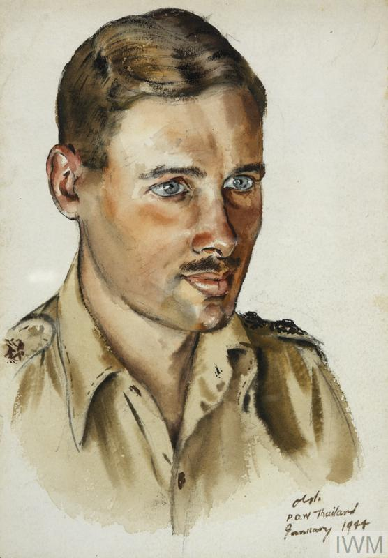 POW, Chunkai, Thailand, January 1944 [Stanley Gimson portrait]
