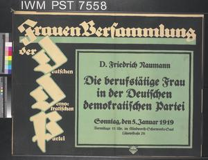 Frauen Versammlung [Women's Assembly]
