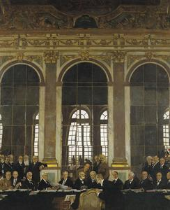 The Signing of Peace in the Hall of Mirrors, Versailles, 28th June 1919