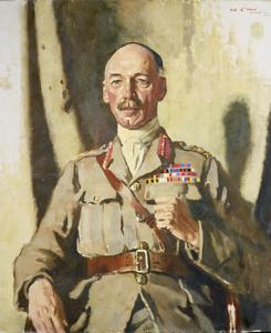 General Sir Henry Seymour Rawlinson, Bart, GCVO, KCB, KCMG. Painted at Headquarters, Fourth Army, 1918
