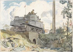 Armoured Fighting Vehicles entering Weert, Belgium