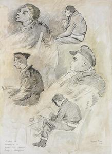 Studies of a Halifax Bomber Crew during interrogation