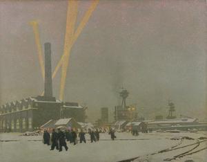 A Corner of the Dockyard, Rosyth: Winter