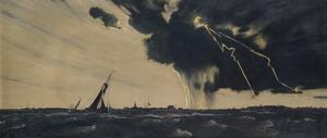 A Thunderstorm: Harwich : submarines leaving port
