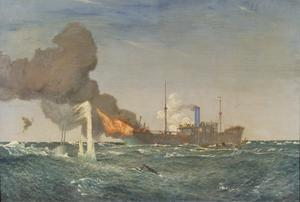 HMS Dunraven, VC, In Action against the Submarine that Sank Her, 8th August 1917