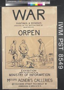 War Paintings and Drawings Executed on the Western Front by Major William Orpen