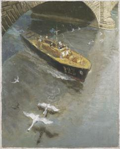 War-time traffic on the River Thames: RAF Sea-rescue Launch, London Bridge