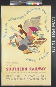 Every Station of the Southern Railway is Collecting Salvage for the National Campaign