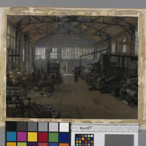 The Interior of a Garage, Boulogne
