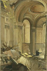 Bomb-damage in St Paul's Cathedral, London