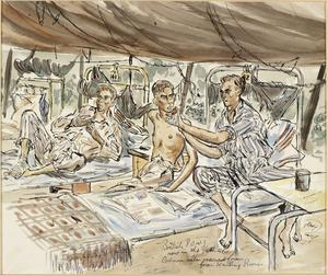 British Prisoners-of-War after Rescue from Kutching, Borneo