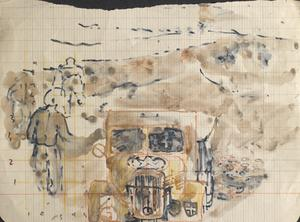Vehicle On The Road: Series of sketches for work in IWM
