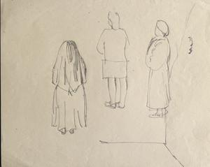 Three Figures: Series of sketches for work in IWM