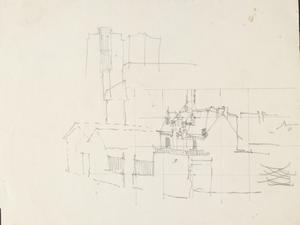 Houses: Series of sketches for work in IWM