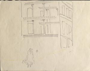 Street Corner: Series of sketches for work in IWM