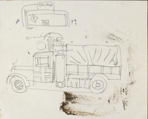 German Truck: Series of sketches for work in IWM
