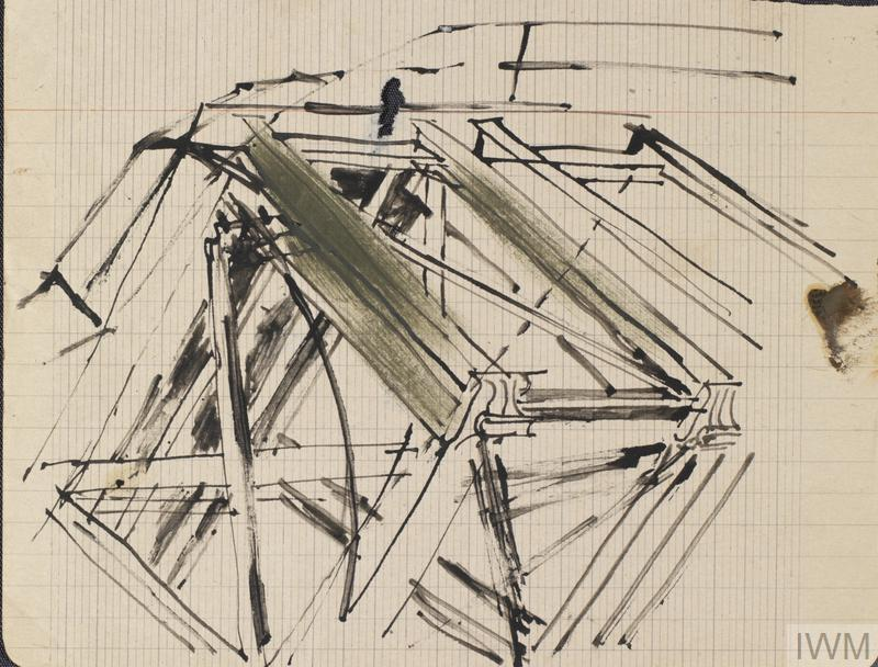 Structure: Series of sketches for work in IWM