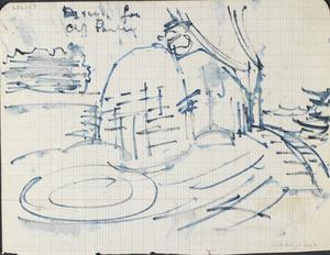 Sketch For Cliff Painting: Series of sketches for work in IWM