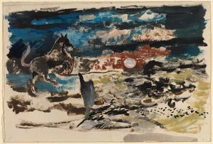 Horse in a Moonlit Landscape: Series of sketches for work in IWM