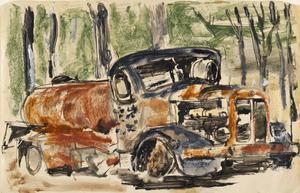 Rusting Truck: Series of sketches for work in IWM
