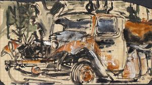 Ruined Truck: Series of sketches for work in IWM
