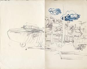 Lion Sur Mer: Series of sketches for work in IWM
