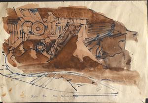 Iron Ore Near Columbelles: Series of sketches for work in IWM