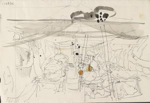 Tent With Wounded Soldiers: Series of sketches for work in IWM