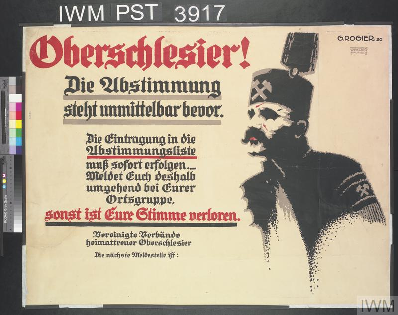 Oberschlesier! Die Abstimmung Steht Unmittelbar Bevor [Upper Silesians! The Vote is Imminent]