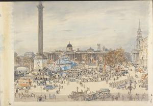 Warships Week, Trafalgar Square, London, WC2, 1942
