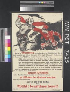Wollt Ihr Das Nicht, dann Wählt Deutschnational! [If You Don't Want That, Vote German National!]