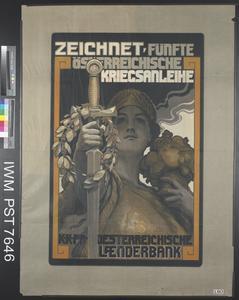 Zeichnet Fünfte Österreichische Kriegsanleihe [Subscribe to the Fifth Austrian War Loan]