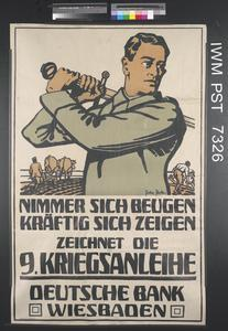 Zeichnet die Neunte Kriegsanleihe [Subscribe to the Ninth War Loan]