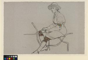 Sketch of a Girl Ploughing