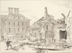 V2 Damage at the Chelsea Pensioners' Hospital, London, SW3