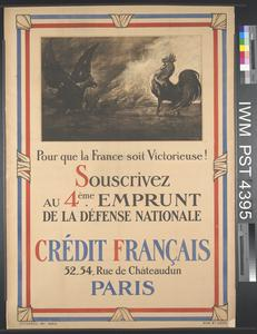 Pour que la France soit Victorieuse [So that France may be Victorious]