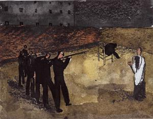 A firing squad (Death of Pierre Laval)