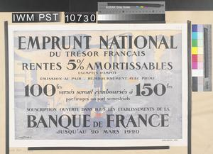Emprunt National du Trésor Français [French Treasury National Loan]