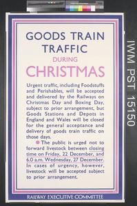 Goods Train Traffic During Christmas