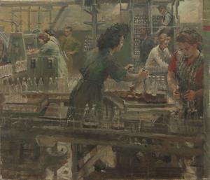 A Penicillin Factory : Girls filling bottles, 1945