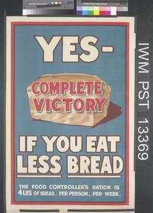 Yes - Complete Victory if You Eat Less Bread