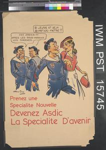 Devenez Asdic - La Specialite d'Avenir [Become an ASDIC - The Speciality of the Future]