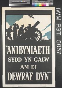Anibyniaeth Sydd Yn Galw Am Ei Dewraf Dyn [Independence Calls for the Bravest of Men]