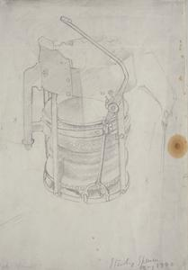 Study for 'Riveters', May 1940: Brazier Bellows