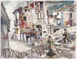 Street-fighting in Capua : On the River Volturno, Italy, October 1943