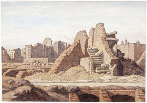 Ruins in Cripplegate, London, EC1