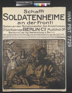 Schafft Soldatenheime an der Front [Establish Soldiers' Recreation Centres at the Front]