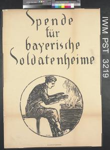 Spende für Bayerische Soldatenheime [Appeal for Bavarian Service Clubs]