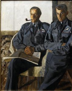 Group Captain P C Pickard, DSO and two bars, DFC and Flight Lieutenant J A Broadley, DSO, DFC, DFM